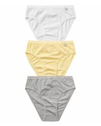Slips große Damen Unterhosen 2er Set Mikrofaser unifarben Panty  42 44 46 48